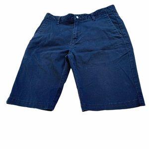 VOLCOM men's dark navy cotton shorts in size 30